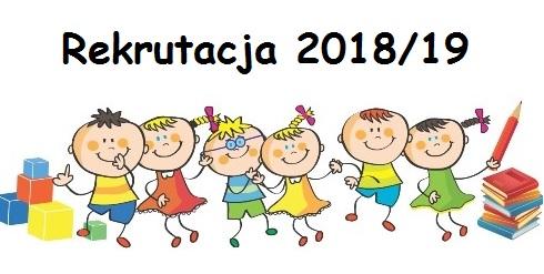 Informacja o wynikach rekrutacji do przedszkola  na rok szkolny 2018/2019